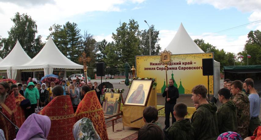 Торжественный молебен на выставке
